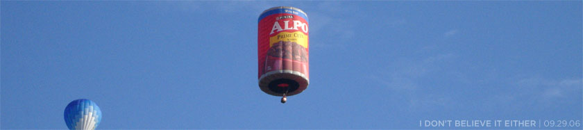 Alpo hot air balloon
