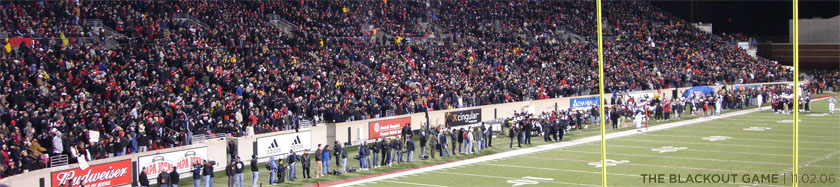 UL vs. WVU Blackout Game 2006