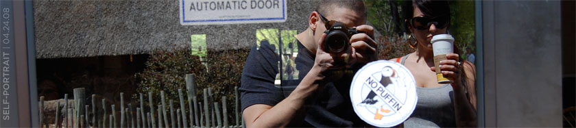 self-portrait at the Louisville Zoo