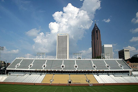 Midtown Atlanta from GT's Bobby Dodd Stadium
