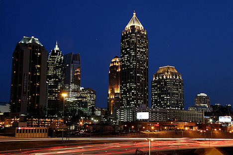Midtown Atlanta at night