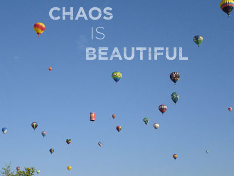 Chaos is beautiful - balloons in front of my house on the morning of September 29, 2006