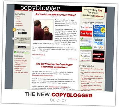 new Copyblogger design