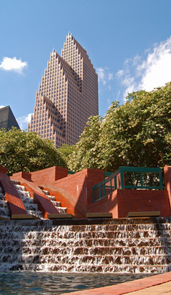 Waterfall in downtown Houston
