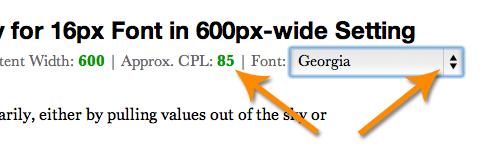 Golden Ratio Typography font selector